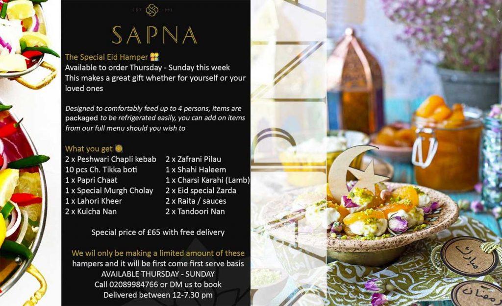 Sapna Caterers Eid Ramadan Menu