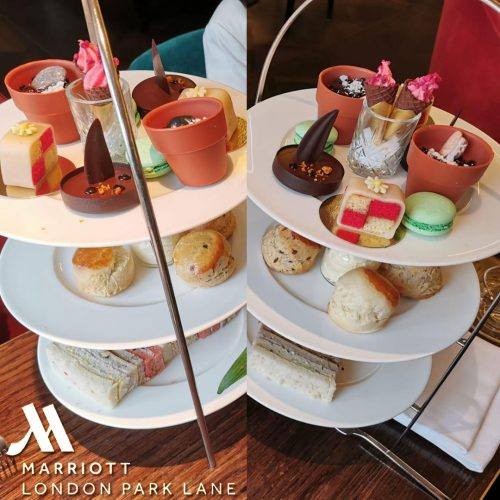 Botanical Afternoon Tea at 5* London Marriott Hotel, Park Lane