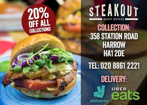 Steakout Harrow London Delivery Takeaway