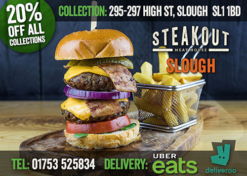 Steakout Slough London Delivery Takeaway