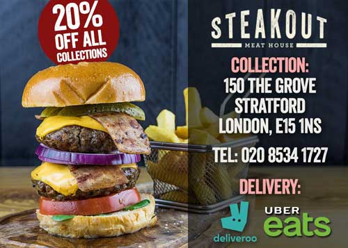 Steakout Stratford London Delivery Takeaway