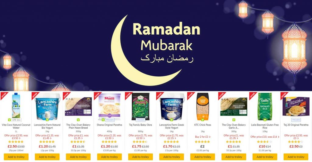 Ramadan Supermarket prices Tesco Morrisons Asda Aldi