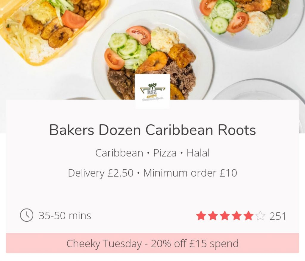 Cheeky Tuesdays get 20% off JustEat London UK