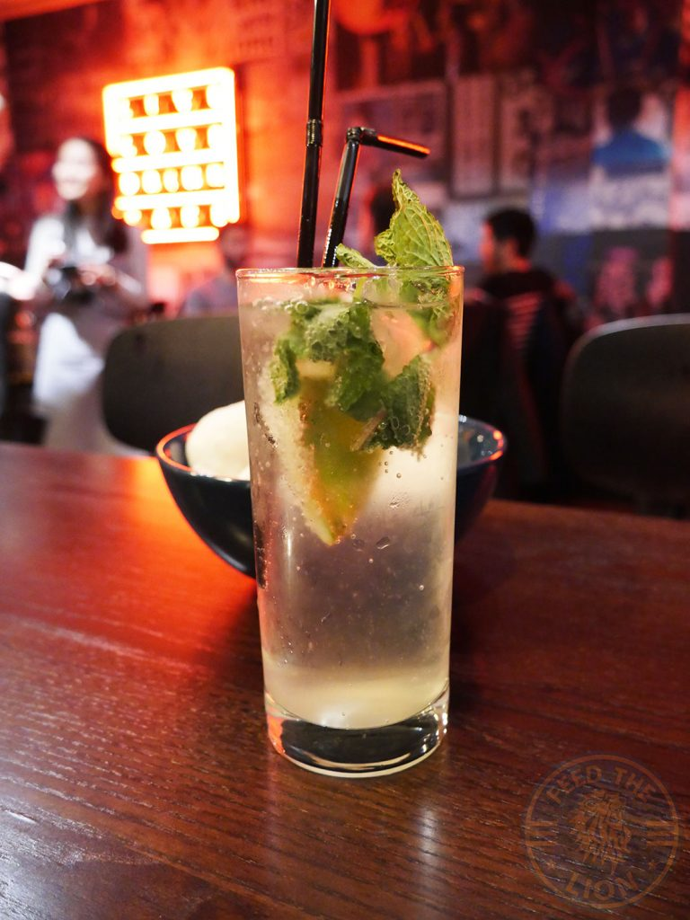 drinks beverages mojito Tamashii Halal Japanese restaurant Kings Cross