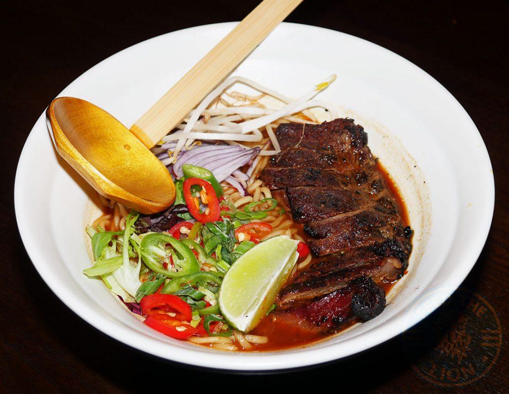 Beef Steak Ramen Tamashii Halal Japanese restaurant Kings Cross