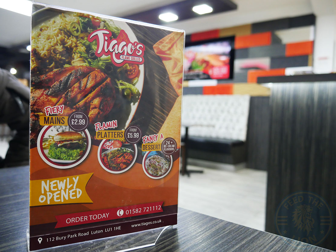 Tiago's Flame Grilled - Luton - Feed the Lion