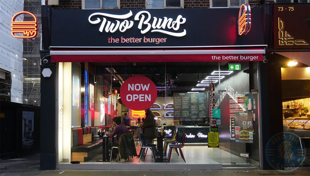Two Buns Burgers Hot Dogs Shakes Ealing Broadway London Restaurant