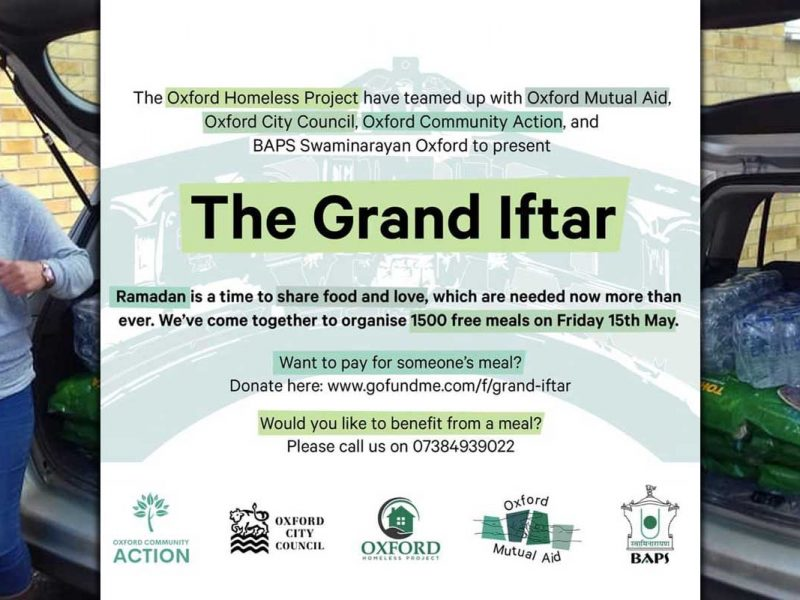 The Grand Iftar Oxford Homeless Project Ramadan