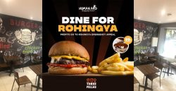 Three Fellas Burgers London Human Aid Rohingya