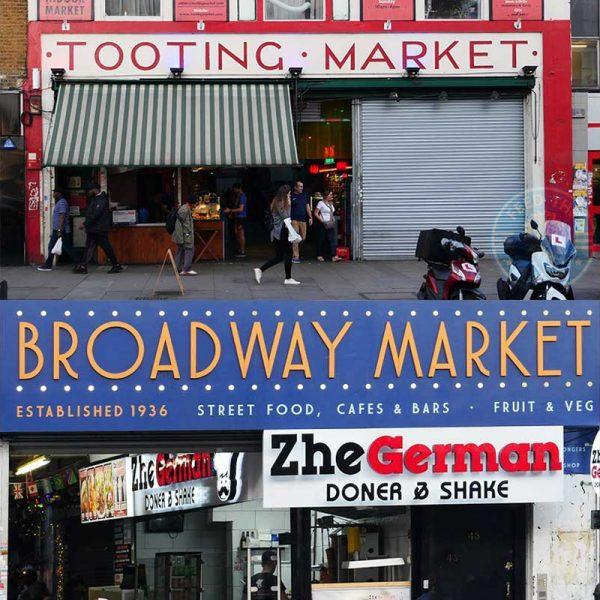 Tooting High Street London Market Broadway