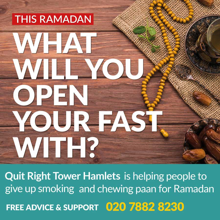 Tower Hamlets Quit Smoking Ramadan 2019