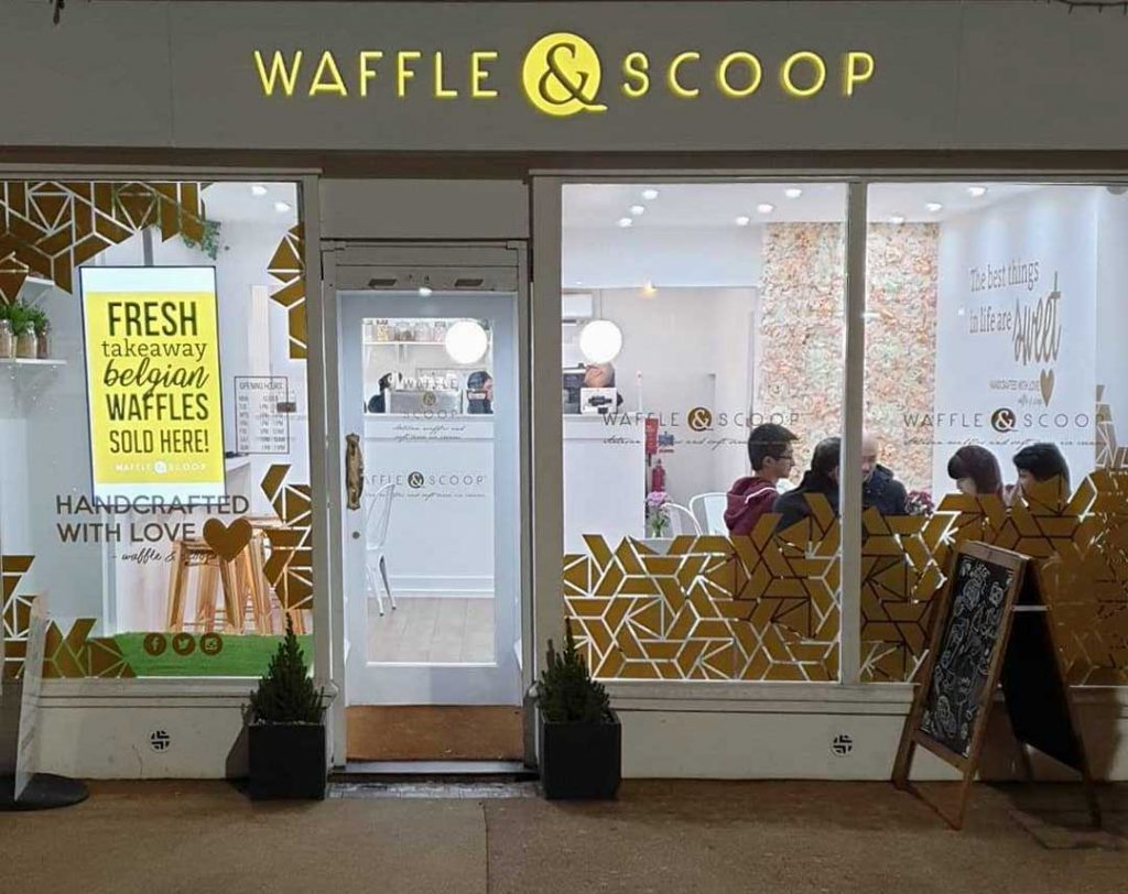 Waffle & Scoop Desserts Ice Cream Leicester