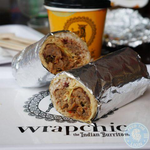 Halal rice biryani Wrapchic Indian street food Tower Hill, London