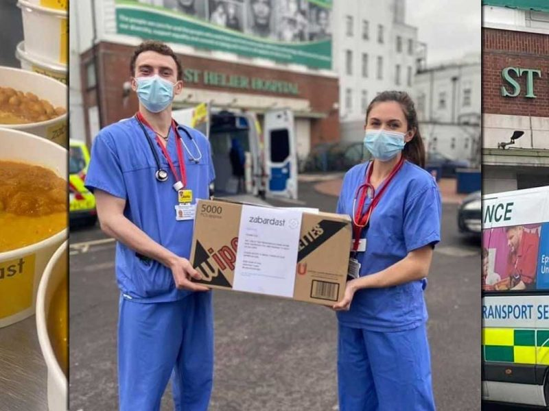 Zabardast Wrap London Halal NHS Charity